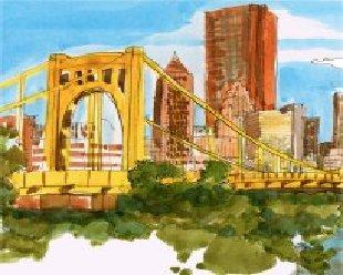 pittsburgh USA, le pont