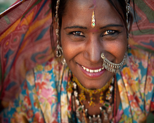Portrait of a India Rajasthani woman