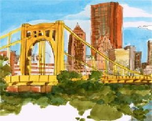 pittsburgh USA, le pont