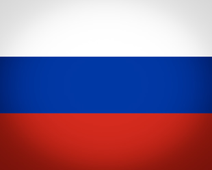 Flag of Russia vignetted