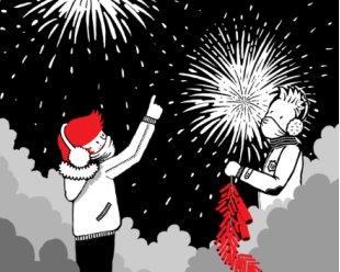 Les pétards du nouvel an Chinois, par un Petit Roux en Chine