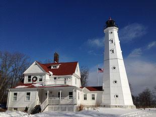 Milwaukee phare hiver