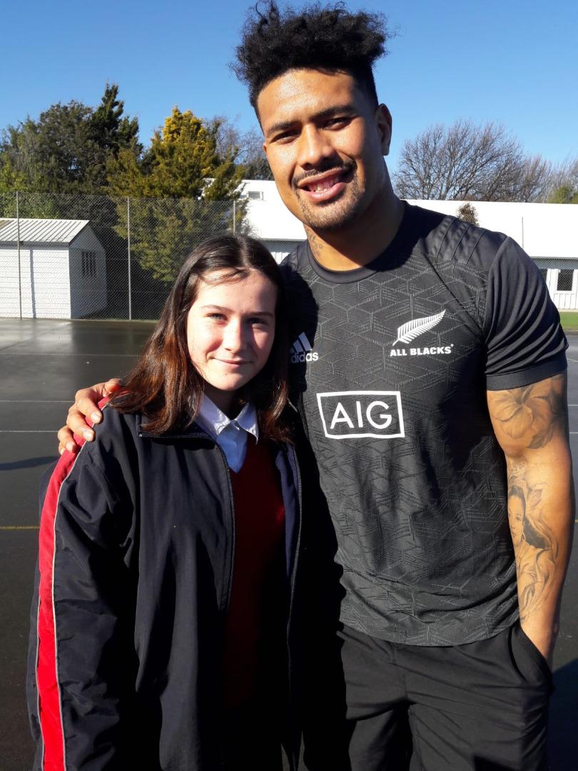 NZ avec un joueur des All Blacks