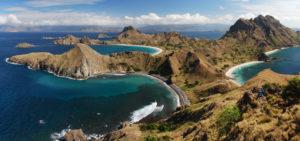 Panorama de l'île de Padar, Indonésie
