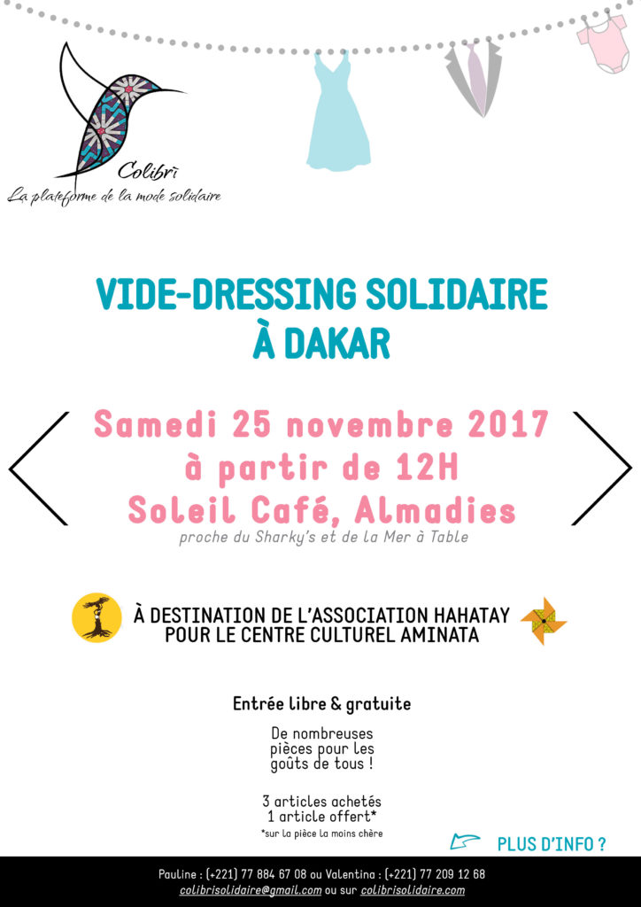 Colibri - Vide-dressing du 25 novembre 2017