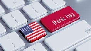 think big drapeau américain