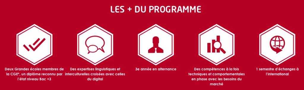 les plus du programme Bachelor communication internationale de l'ISIT infographie