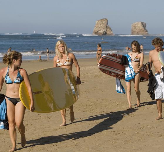 colonies de vacances CEI été plages surf biarritz