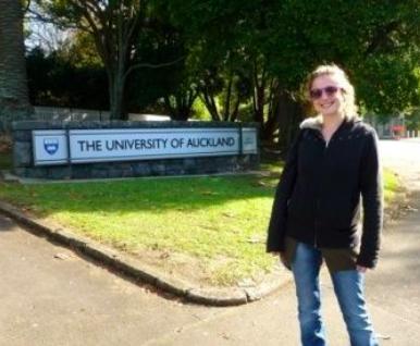 étudiante à Auckland