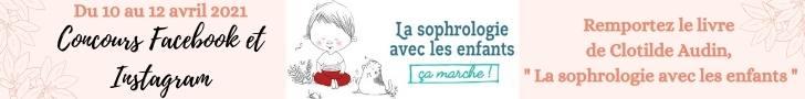 Bannière jeu concours - La sophrologie avec les enfants Clotilde AUDIN