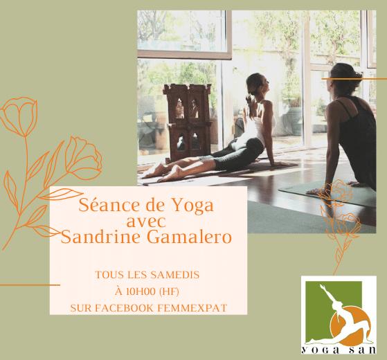 yoga avec Sandrine Gamalero