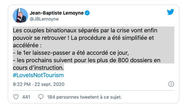 Tweet Lemoyne - Laissez-passer