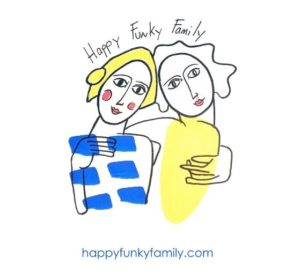 logo Happy funky family