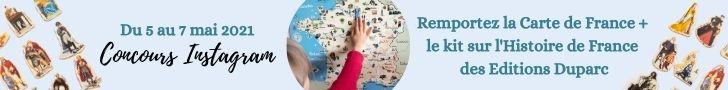 Bannière jeu concours Carte de France